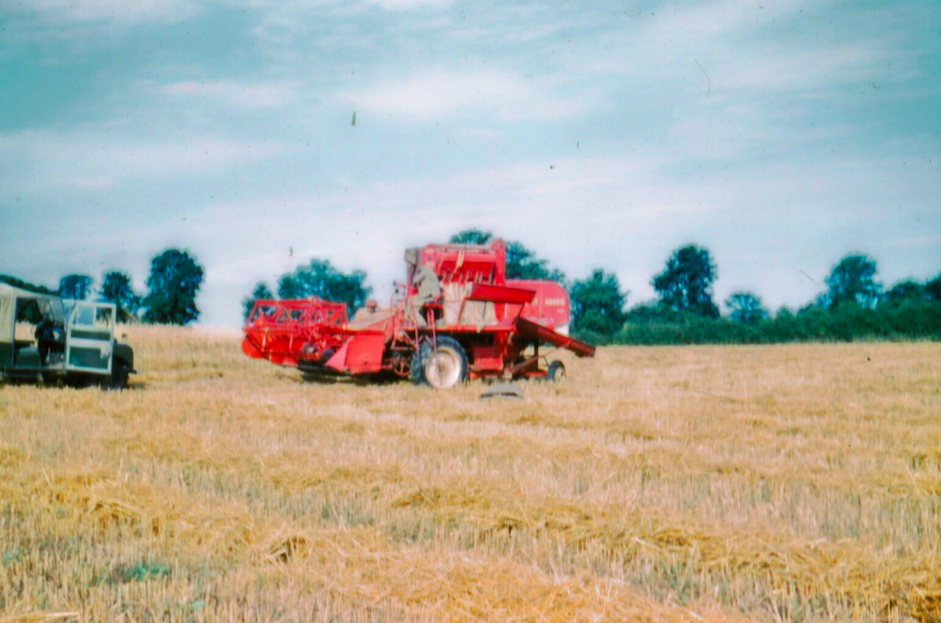 First Combine Harvester